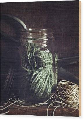 Wood Print featuring the photograph Rustic Green by Amy Weiss