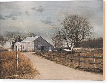 Wood Print featuring the photograph Rustic Lane by Robin-Lee Vieira