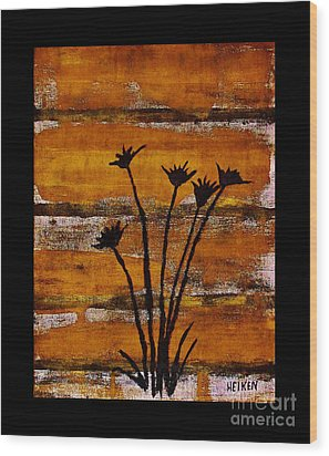 Rustic Log Cabin Wood Print by Marsha Heiken