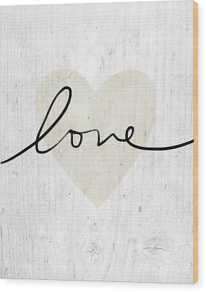 Wood Print featuring the mixed media Rustic Love Heart- Art By Linda Woods by Linda Woods