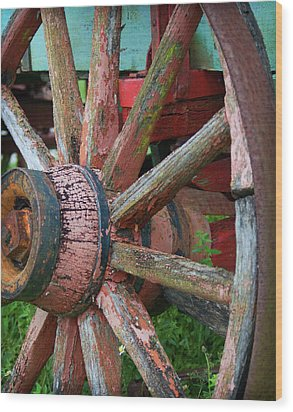 Rustic Spoke Wood Print