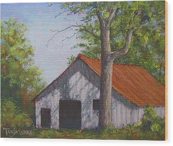 Rustic Wood Print by Tanja Ware