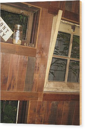Rustic Times Wood Print
