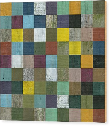 Rustic Wooden Abstract Wood Print by Michelle Calkins