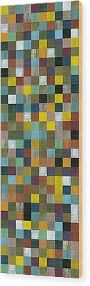 Rustic Wooden Abstract Tower Wood Print by Michelle Calkins