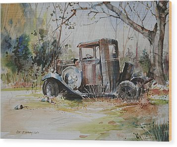 Rusting Relic  Wood Print by P Anthony Visco