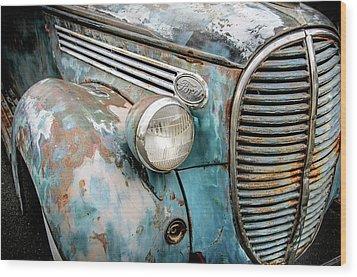 Rusty Blues Wood Print by David Lawson