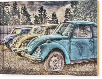 Wood Print featuring the photograph Rusty Bugs by Jean OKeeffe Macro Abundance Art