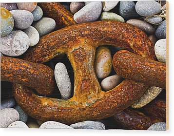Wood Print featuring the photograph Rusty Chain by Gabor Pozsgai