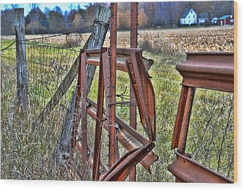 Rusty Gate Wood Print