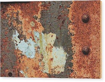 Rusty Layers Wood Print