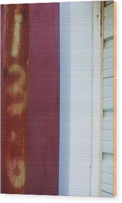 Rusty Numbers II Wood Print by Anna Villarreal Garbis