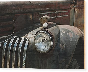 Wood Print featuring the photograph Rusty Old Headlight  by Kim Hojnacki