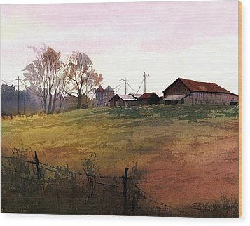Rusty Roofs Wood Print by Sergey Zhiboedov