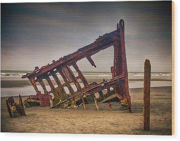 Rusty Shipwreck Wood Print by Garry Gay