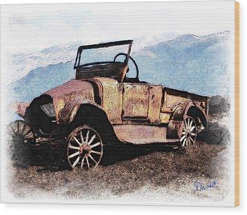 Rusty Wood Print