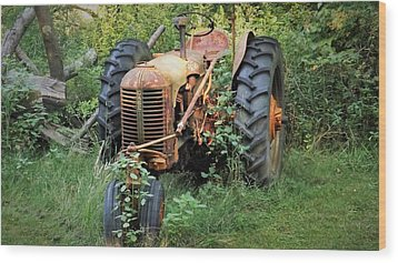 Rusty Tractor 3  Wood Print by Joyce Wasser