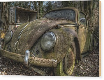 Rusty Vee Dub  Wood Print by Nathan Wright