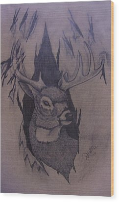 Rut Rage Wood Print by Chris Newell