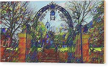 Rutgers University Wood Print