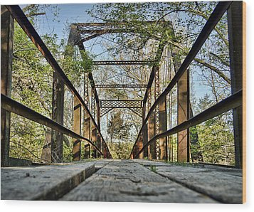 Englewood Bridge Wood Print by Cricket Hackmann
