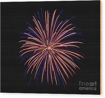 Rvr Fireworks 48 Wood Print