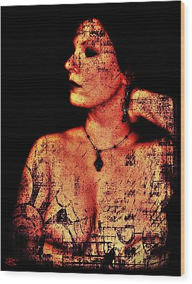 Ryli 2 Wood Print by Mark Baranowski