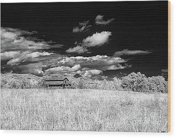 S C Upstate Barn Bw Wood Print
