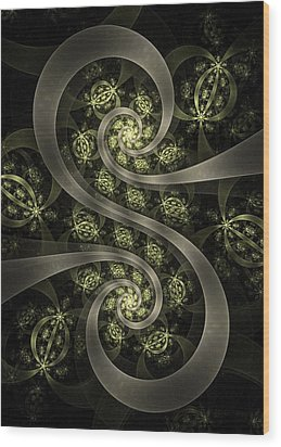 S Curve Wood Print by David April