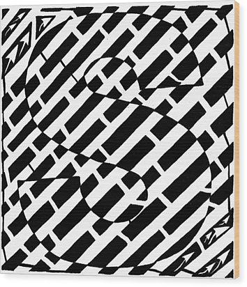 S Maze Wood Print by Yonatan Frimer Maze Artist