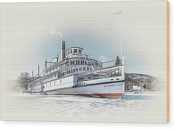 Wood Print featuring the photograph S. S. Sicamous II by John Poon
