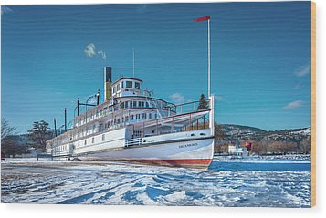 Wood Print featuring the photograph S. S. Sicamous by John Poon
