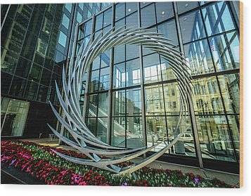 Wood Print featuring the photograph S2 By Santiago Calatrava by Randy Scherkenbach