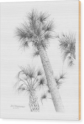 Sable Cabbage Palm Wood Print