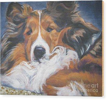Sable Shetland Sheepdog Wood Print by Lee Ann Shepard
