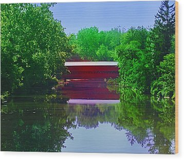Sachs Covered Bridge - Gettysburg Pa Wood Print by Bill Cannon