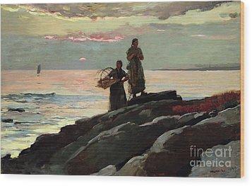 Saco Bay Wood Print by Winslow Homer