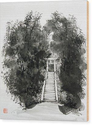 Sacred Gate  Wood Print