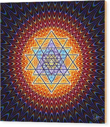 Sacred Geometry 141 Wood Print