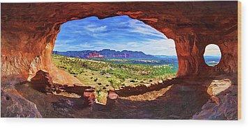 Sacred Ground - Shaman's Cave Wood Print