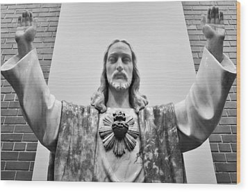 Wood Print featuring the photograph Sacred Heart Of Jesus by Jeanette O'Toole