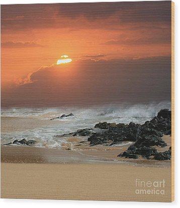 Sacred Journeys Song Of The Sea Wood Print by Sharon Mau