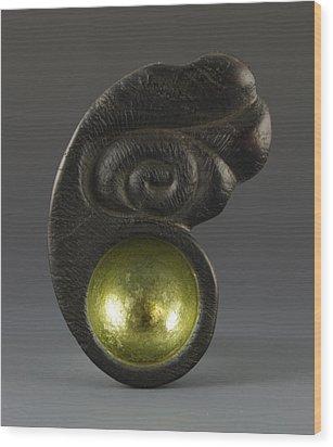 Sacred Spoon Of The Pemaquid Rock People Wood Print by Jacques Vesery