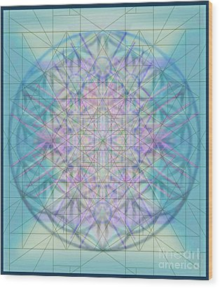 Sacred Symbols Out Of The Void 4b Wood Print by Christopher Pringer