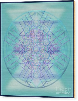 Sacred Symbols Out Of The Void A2b Wood Print by Christopher Pringer