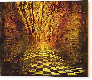 Sacred Temple Of The Trees Wood Print by Jenny Rainbow