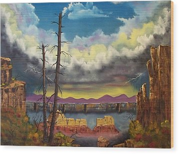 Sacred View Wood Print by Patrick Trotter