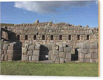 Wood Print featuring the photograph Sacsaywaman Cusco, Peru by Aidan Moran