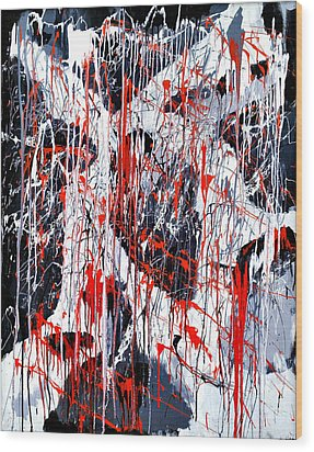 Sad Days Indeed Wood Print by Asbjorn Lonvig
