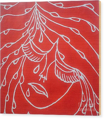 Sad Girl Wood Print by Josie Weir